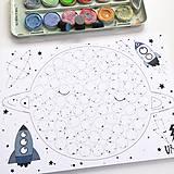Hračky - PUNTÍKOVÁNKY . planety s ilustracemi . - 10991124_