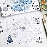 Hračky - PUNTÍKOVÁNKY . planety s ilustracemi . - 10991127_