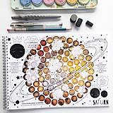 Hračky - PUNTÍKOVÁNKY . planety s ilustracemi . - 10991135_