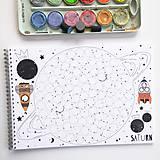 Hračky - PUNTÍKOVÁNKY . planety s ilustracemi . - 10991143_