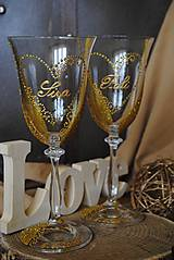 Nádoby - Svadobné poháre - 10992028_