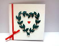 Papiernictvo - Pohľadnica ... zelené lístky - 10994444_