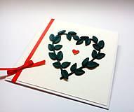 Papiernictvo - Pohľadnica ... zelené lístky - 10994445_