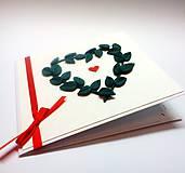 Papiernictvo - Pohľadnica ... zelené lístky - 10994455_