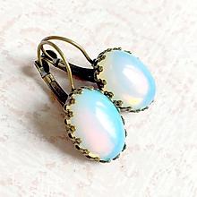 Náušnice - Opalite French Clasp Bronze Earrings / Bronzové filigránové náušnice s opalitom - 10993279_