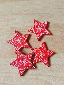 Dekorácie - Drevena ozdoba hviezdičky - 10992516_