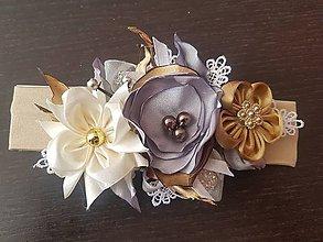 Ozdoby do vlasov - Kvetinová čelenka - 10994853_