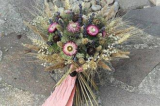 Dekorácie - Sušená kytica- jesenná - 10993828_