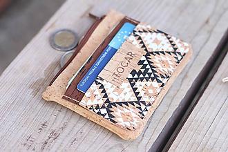 Peňaženky - Korková mini peňaženka - 10993900_