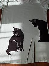 Tričká - Tričko: Mačky, svetlo zelená, S - 10993454_
