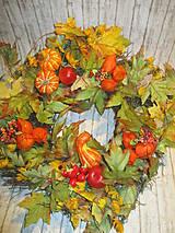 Dekorácie - Jesenný veniec - 10994563_