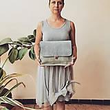 Kabelky - Kožená kabelka Vanessa (šedo-šedá) - 10993330_