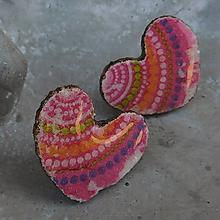 Náušnice - Love napichovačky / 25mm - 10991553_