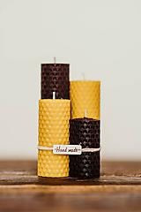 Sviečka zo 100% včelieho vosku - Točené tenké - Fialové