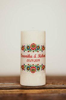 Darčeky pre svadobčanov - Sviečka pre mladomanželov - Folklórna  (A) - 10994232_