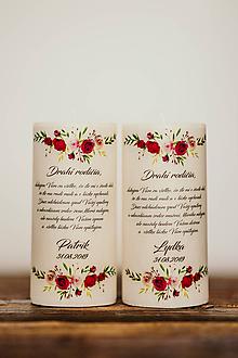 Darčeky pre svadobčanov - Poďakovanie svadobným rodičom - Vzor č.5- Sviečka z palmového vosku (A) - 10994278_