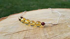 Náhrdelníky - Náhrdelník kamienok - citrín - 10991889_