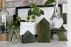 Dekorácie - Sada dvoch domčekov-na poznámky - 10994797_