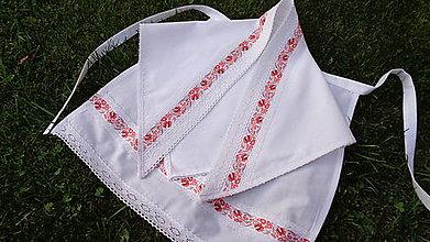 Iné doplnky - Svadobná šatka na čepenie nevesty folklórna - 10994620_