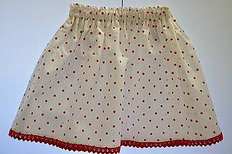 Detské oblečenie - Detská suknička - biela s bodkou - 10992552_
