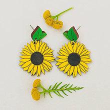 Náušnice - slnečnica ~ napichovisiačky (farebné) - 10994226_
