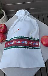Úžitkový textil - Ľanové vrecko na veľký chlieb HOREC a PLESNIVEC II. 52 x 30,5 cm - 10993711_