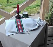 Úžitkový textil - Ľanové vrecko na veľký chlieb HOREC a PLESNIVEC II. 52 x 30,5 cm - 10993715_