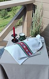 Úžitkový textil - Ľanové vrecko na veľký chlieb HOREC a PLESNIVEC II. 52 x 30,5 cm - 10993718_