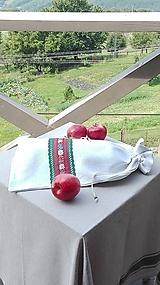 Úžitkový textil - Ľanové vrecko na veľký chlieb HOREC a PLESNIVEC II. 52 x 30,5 cm - 10993720_