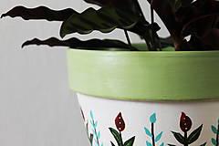Nádoby - Terakotový kvetináč - Rastlinkový (veľký) - 10992722_