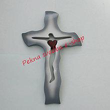 Dekorácie - Svadobný kríž A011 - 29x18 cm - 10993765_
