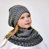 Čiapky - Paula set ~ háčkovaná čiapka a šál - 10994801_