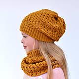 Čiapky - Paula set ~ háčkovaná čiapka a šál - 10994846_