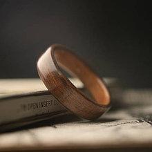 Prstene - Drevená obrúčka - Palisander Santos - 10993666_