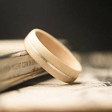 Prstene - Drevená obrúčka - gaštan/striebro - 10993670_