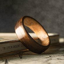 Prstene - Drevená obrúčka- Eucalyptus / oliva - 10993727_