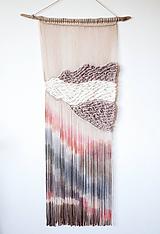 """Dekorácie - Nástenná dekorácia z dreva a vlny """"Pastelový súmrak"""" - 10992588_"""