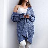 Svetre/Pulóvre - elegantný fialový sveter z alpaky - 10993183_