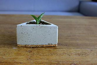 Dekorácie - betonový kvetináč - trojuholník (Šedá) - 10994206_