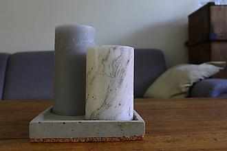 Dekorácie - betónová podložka (štvorec) - 10994311_