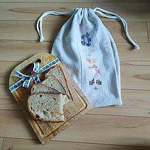 Úžitkový textil - Zero waste ľanové vrecúška - vyšívané (4) - 10994379_
