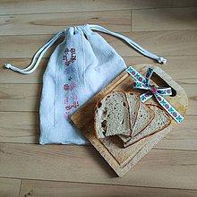 Úžitkový textil - Zero waste ľanové vrecúška - vyšívané (5) - 10994383_