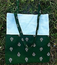 Nákupné tašky - Bavlnená taška s ľanom - Folk - 10994601_