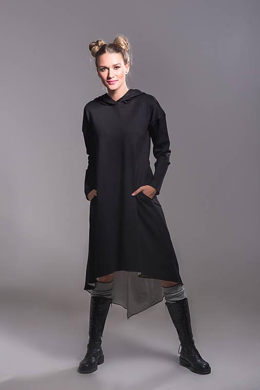 Šaty - Šaty s kapucňou - 10991540_