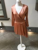 Šaty - Hodvábne šaty ROSE GOLD farba - 10991740_