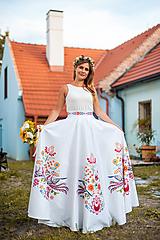Sukne - Dlhá kruhová sukňa farebná - 10994582_