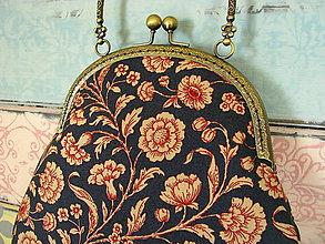 Kabelky - Kabelečka Květiny tak trochu červené - sleva z 24eur - 10992350_