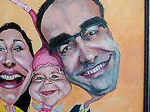 Obrazy - Karikatúra podľa fotky (Maľované na plátne (farebne, 1 tvár)) - 10991912_