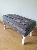 Nábytok - Lavička v pletenom poťahu - 10993415_