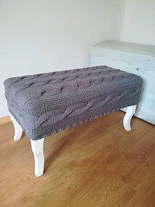 Nábytok - Lavička v pletenom poťahu - 10993397_